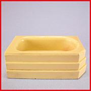 "Strombecker Dollhouse Bath Tub – Cream 1934 3/4"" Scale"