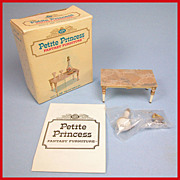 Petite Princess Dollhouse #4431-3 Palace Table & Accessories MINT in Box by Ideal 1964 3 ...
