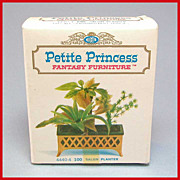 "Petite Princess Dollhouse #4440-4 Salon Planter MINT in Box – Never Been Opened! Made by Ideal 1964 3/4"" Scale"