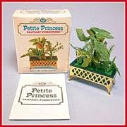 "Petite Princess Dollhouse #4440-4 Salon Planter MINT in Box by Ideal 1964 3/4"" Scale"