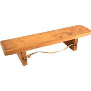 "Very Rare Antique German Dollhouse Wooden Knife Sharpening Board 1880s – 1900s Large 1"" Scale"