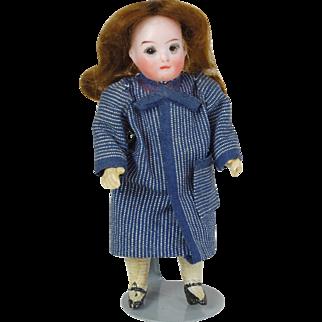 German bisque head doll glass eyes William Goebel 5 inch