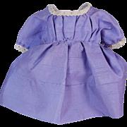 "Vintage pretty lilac doll dress for small doll dress 7"" long"