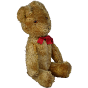 """Vintage gold mohair fully jointed stuffed  Bear 10"""""""