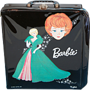 Mattel 1963 Barbie Bubblecut case black vinyl Ponytail