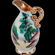 "Miniature Ucagco handpainted Japanese porcelain pitcher vase 2 3/4"""
