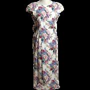 SALE Circa 1980s Made For Memories Misty Lane Lavender Floral Dress