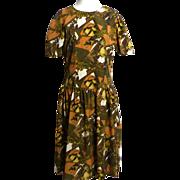 "SALE Circa 1960s Silk ""Tea Time"" Dress"