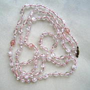Unsigned Pink Glass Beads