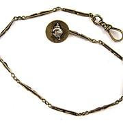 14K Yellow Gold Pharaoh/Sword Watch Chain