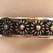 SALE Sterling Silver Floral Openwork Ring