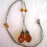 Art Deco Lariat Lavalier/Necklace