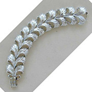 Lisner Silver-Tone Feather Bracelet