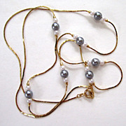 Avon Faux Pearl Gold-Tone Necklace