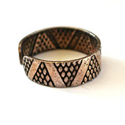 SALE Silver-Toned Geometric Patterned Toe Ring
