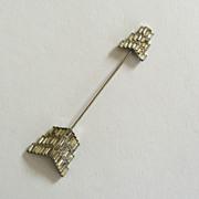 SALE Rhinestone Arrow Hat/Jabot Brooch/Pin