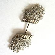 Silver-tone Rhinestone Basket of Flowers Hat Pin