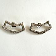 Rectangular Curved Rhinestone Shoe Clips
