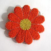 Bright Orange and Yellow Daisy Purse