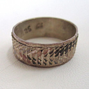 SALE Mexican Sterling Silver Ring