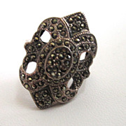 SALE PENDING Sterling Silver Marcasite Ring