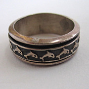 Sterling Silver Dolphin Ring/Band