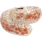 SALE Lucite Bracelet with Seashells