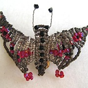 Unsigned Seed Bead Butterfly Pin