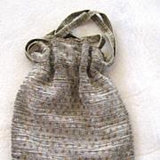 Steel Bead Reticule Drawstring Purse/Bag