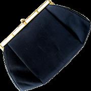 SALE After Five Black Handbag with Mother-of-Pearl Trim