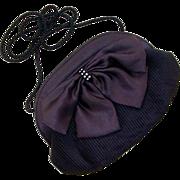 SALE Magid Black Pleated Bow Purse