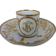 1810 French Coffee Can and Deep Saucer