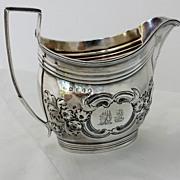 Georgian 1801 Sterling Cream Pitcher