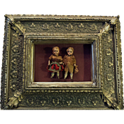 Pair 19th c. French Miniature Dolls
