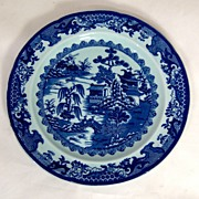 SALE c.1840 Ornate English Ironstone Dinner Plate