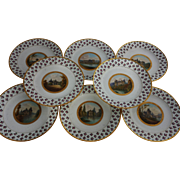 SALE 1824 Sevres Topographical Cabinet Plates. Set of 8