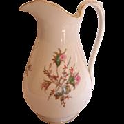 "French Haviland Limoges 12"" Wash Pitcher Moss Rose c 1868 – 1876"
