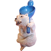 German Bohne Figural Polar Bear Spooner Spoon Utensil Holder c 1887 to 1896