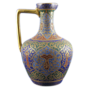"Royal Bonn Islamic Motif  ""Kashmir"" Tapestry Pitcher/Ewer (c. 1890's)"