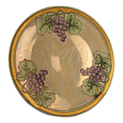 "Hutschenreuther Art Nouveau Lustre Grape Plate (Signed ""Gammon""/c.1920-1940)"