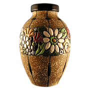 Austrian Amphora Arts & Crafts Floral Band Vase (c.1900-1905)