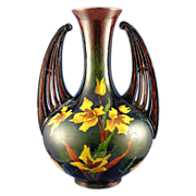 Old Moravian Austria Arts & Crafts Handled Daffodil Vase (c.1899-1918)