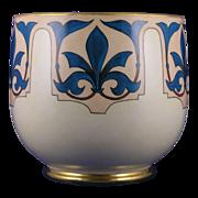SALE William Guerin & Co. (WG&Co.) Limoges Fleur de Lis Motif Vase/Jardinière (Signed  ...