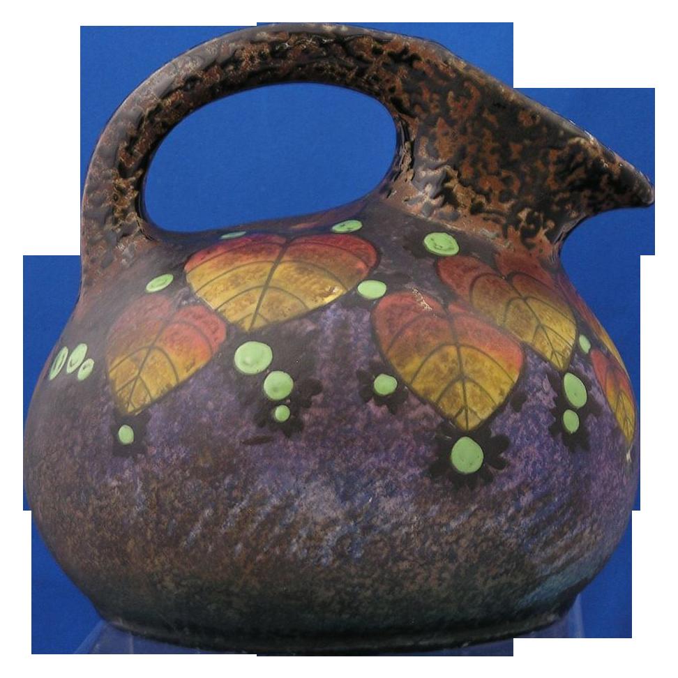 Amphora Czechoslovakia Arts & Crafts Leaf & Berry Motif Pitcher (c.1918-1936)