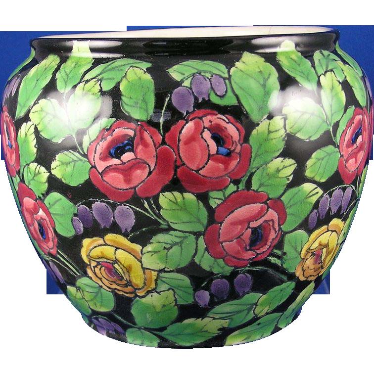 Ernst Wahliss Amphora Austria Floral Motif Vase/Jardinière (c.1899-1918)