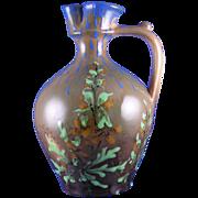 SALE RStK Amphora Austria Arts & Crafts Floral Motif Pitcher (c.1900-1904)
