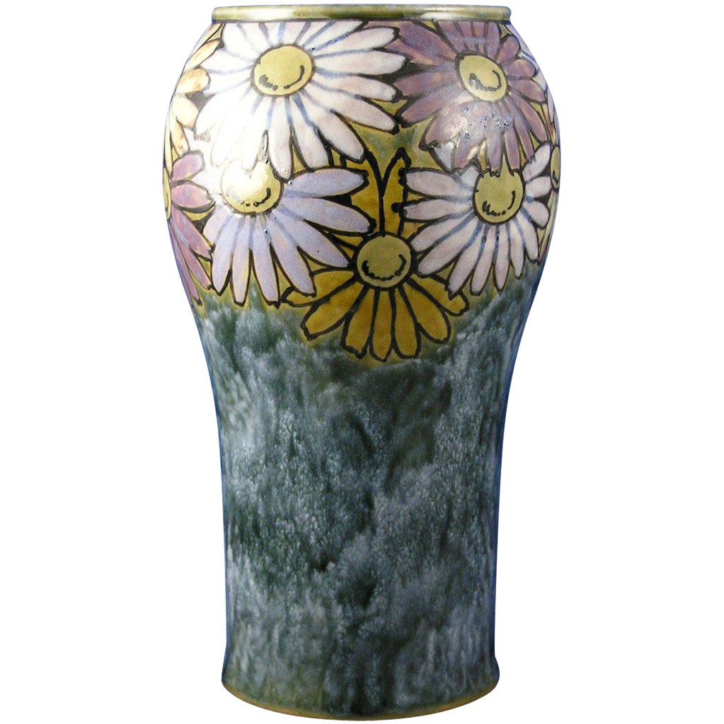 Royal Doulton Arts & Crafts Daisy Motif Vase (Signed by Florrie Jones/c.1923-1927)