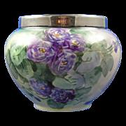 SALE William Guerin (WG&Co.) Limoges Violet Motif Vase (c.1900-1932)