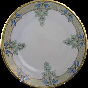 "SALE Hermann Ohme Silesia Arts & Crafts Floral Motif Plate (Signed ""N. Amanda Johnson"""