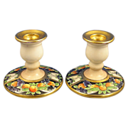 SALE Arts & Crafts Fruit Design Candlesticks (c.1900-1940)